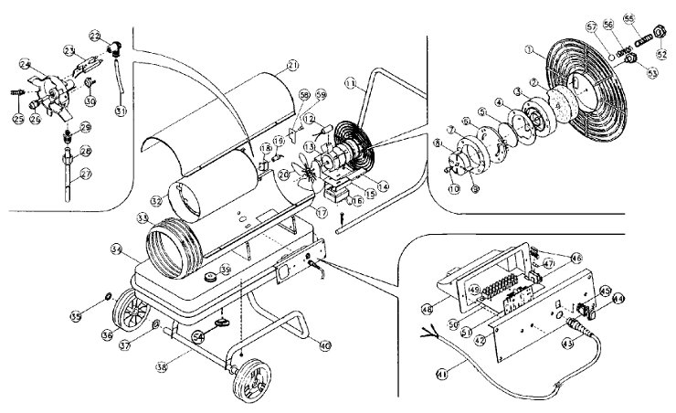 Clarke Xr105 Exploded View Rogers Space Heaters